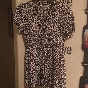 Allison animal print tunic